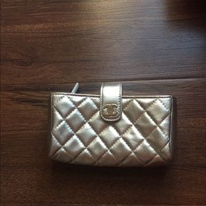NEW NWT Chanel Gold Coin Wallet $900